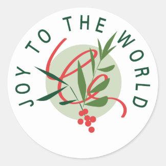 Joy To The World Classic Round Sticker