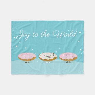 Joy to the World Donuts | Fleece Blanket