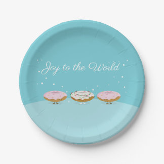 Joy to the World Donuts | Paper Plate