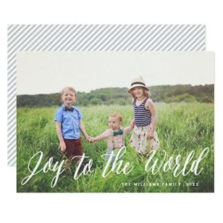 Joy to the World Elegant Calligraphy | Holiday Card
