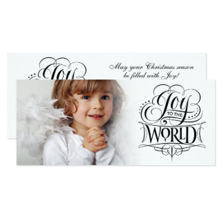 Joy to the World Fancy Christmas Calligraphy Card