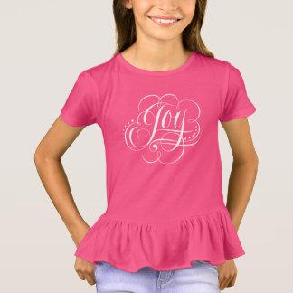 JOY to the World Fancy Swirly Girly Christmas T-Shirt