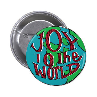 Joy to the world | Hand Lettered 2 Inch Round Button