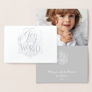 Joy to the World Heavenly Silver Foil Christmas Foil Card