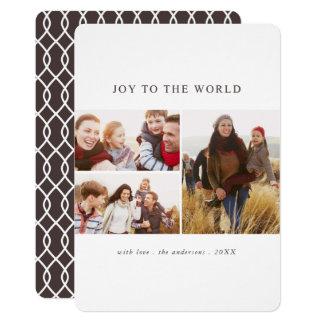 Joy to the World Modern Holiday Photo Card