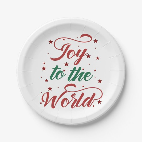 joy to the world paper plate