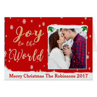 Joy to the World Personlize Picture Card