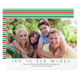 Joy to the World Photo Christmas Card