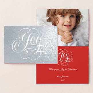 Joy to the World Real Silver Foil Luxury Christmas Foil Card
