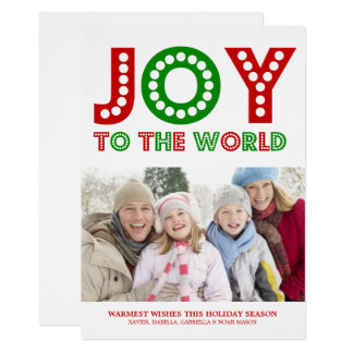 Joy To The World | Red/Green Card