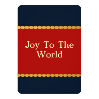 Joy To The World Red White Blue Stars Card