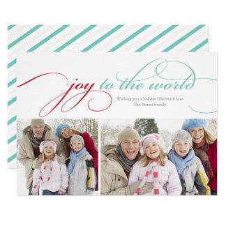 Joy To The World Script | Red/Light Blue Card