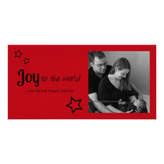 Joy to the World - Simply Modern Holiday Christmas Card
