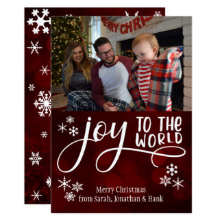 Joy to the World, Snowflakes & Your Photo Card