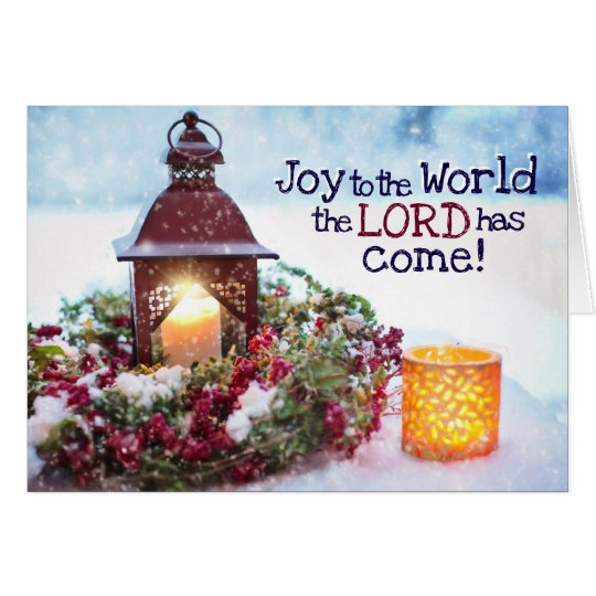Joy to the World the Lord has Come, Christmas Card