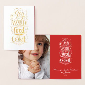 Joy to the World the Lord is Come - Religious Foil Card