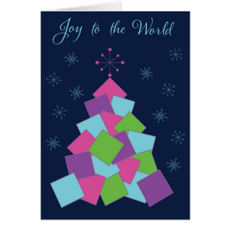 Joy to the World Tree Greeting Card