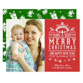 Joy To The World Typography Merry Christmas Photo Card