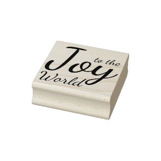Joy to the World Wood Stamp