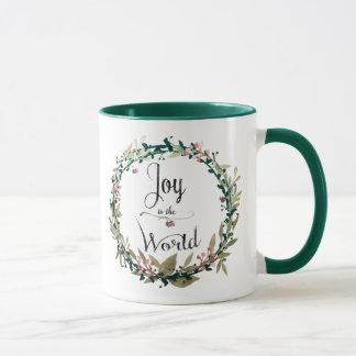 Joy to the World Wreath Mug