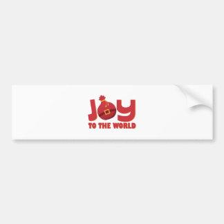Joy To World Bumper Sticker
