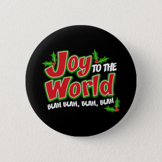 Joy World Blah Blah Round Button (dark)