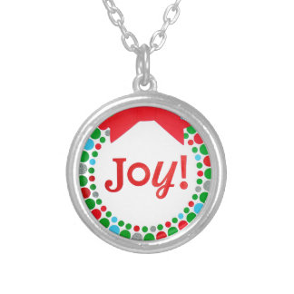 Joy Wreath Silver Plated Necklace