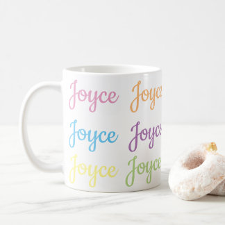 Joyce Name Mug - White & Pastels
