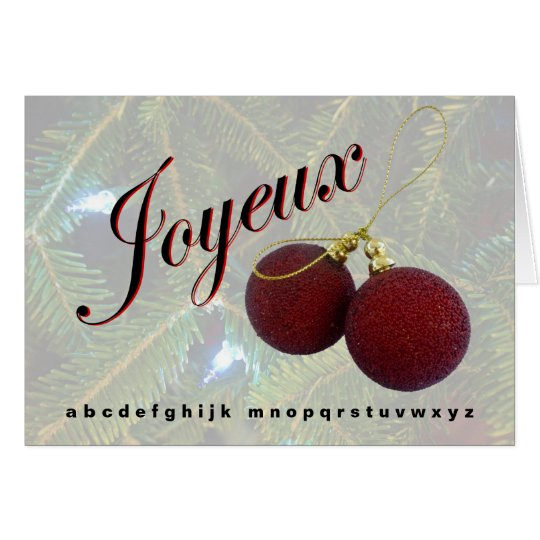 """Joyeaux No-L"" Holiday greeting card"