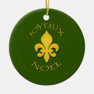 Joyeaux Noel Fleur de Lis Holiday Ornament