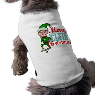 Joyeuse fumisterie féerique drôle de Bah de Noël Vêtement Pour Chien