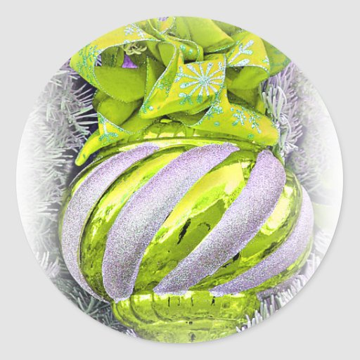Joyeuses Fêtes, joyeux Christmas_ Autocollants Ronds