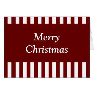"""""""Joyeuses rayures cramoisies de rouge de Noël"""" Carte De Vœux"""