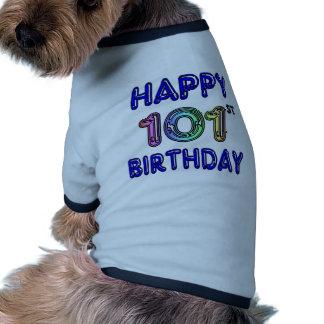 Joyeux 101st anniversaire t-shirt pour chien