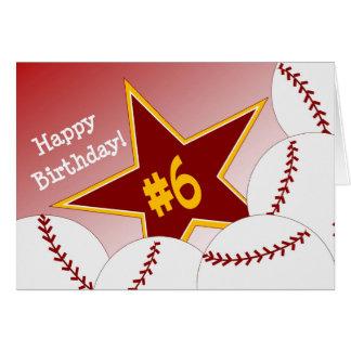 Joyeux 6ème anniversaire à mon étoile préférée du carte de vœux