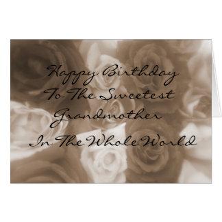 Joyeux anniversaire à la carte de grand-mère la