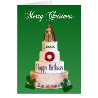 Joyeux anniversaire à la carte de Noël de Jésus