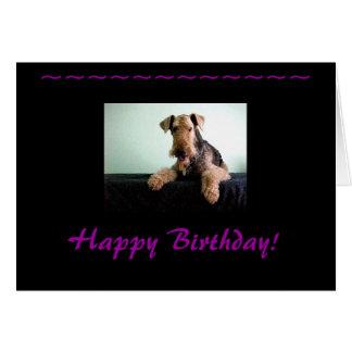 Joyeux anniversaire Airedale Terrier Carte De Correspondance