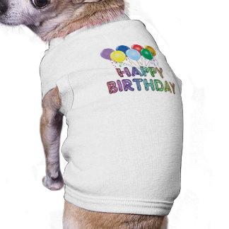 Joyeux anniversaire avec le ballon vêtements pour animaux domestiques