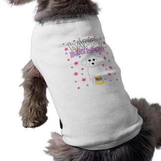 Joyeux anniversaire Bichon Frise Manteaux Pour Animaux Domestiques