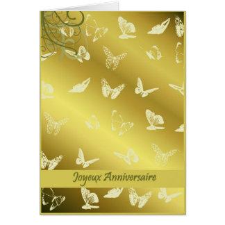 joyeux anniversaire butterflies card