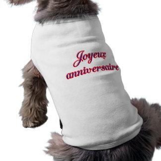 Joyeux anniversaire vêtement pour animal domestique