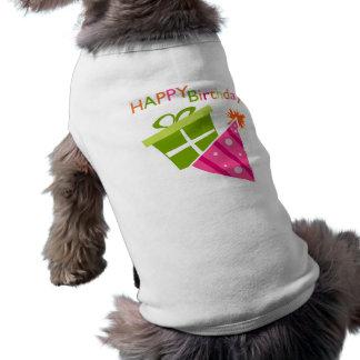 Joyeux anniversaire manteaux pour chien