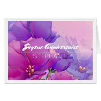 Joyeux Anniversaire Custom Name Birthday Cards