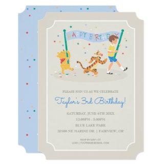 Joyeux anniversaire de Winnie the Pooh | Carton D'invitation 12,7 Cm X 17,78 Cm