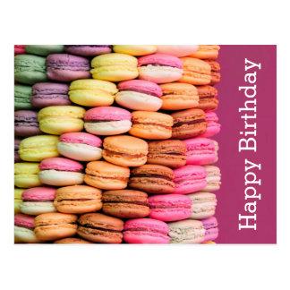 Joyeux anniversaire doux de Macarons Cartes Postales
