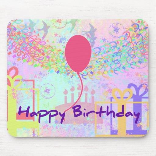 Joyeux anniversaire et meilleurs voeux un ballon tapis de souris