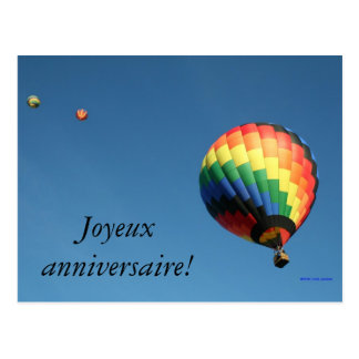 Joyeux anniversaire international !  Langue de Carte Postale