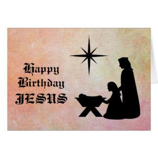 Joyeux anniversaire Jésus - carte de Noël de nativ