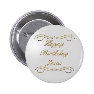 Joyeux anniversaire Jésus Macaron Rond 5 Cm